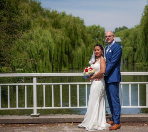 Bruidstel bij brug