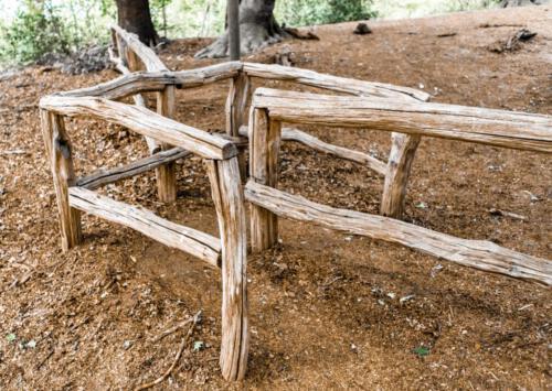 A wooden gate
